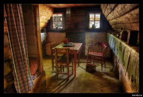 интерьер деревенского дома фото