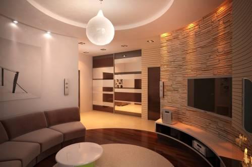 Фотообои дизайн гостиной