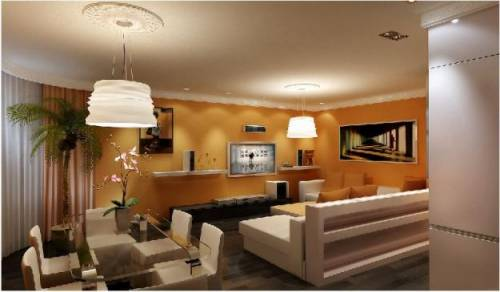Дизайн гостиной обои