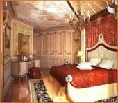 дизайн спальни в стиле ампир.