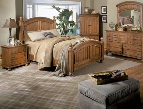 Дизайн спальни в кантри стиле