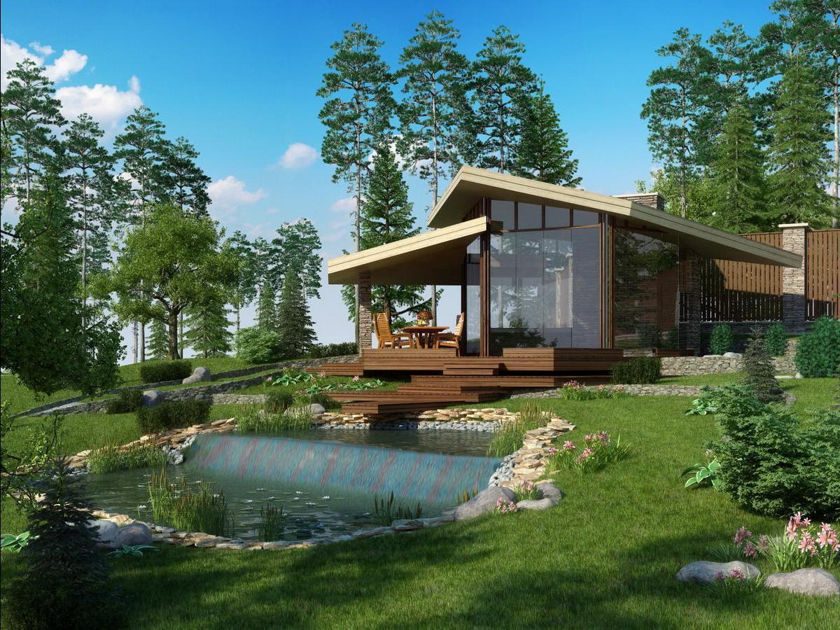 Дизайн частного дома с участком фото