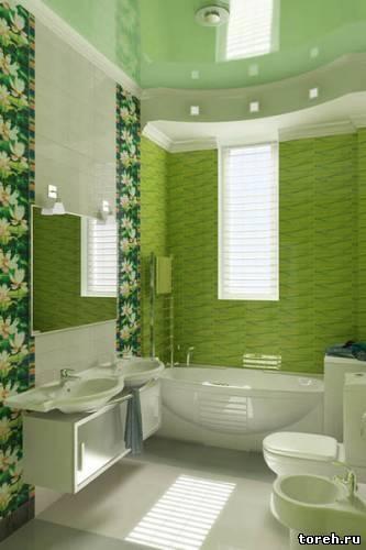 эконом дизайн ванной комнаты