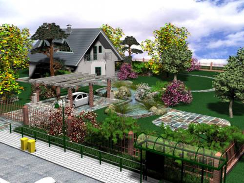 Ландшафтный дизайн дома дачи